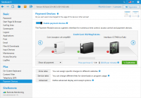 SiteKiosk umożliwia pobieranie opłat za korzystanie z komputera. Obsługiwane są różne akceptory gotówki, czytniki kart kredytowych i bramki kart kredytowych.